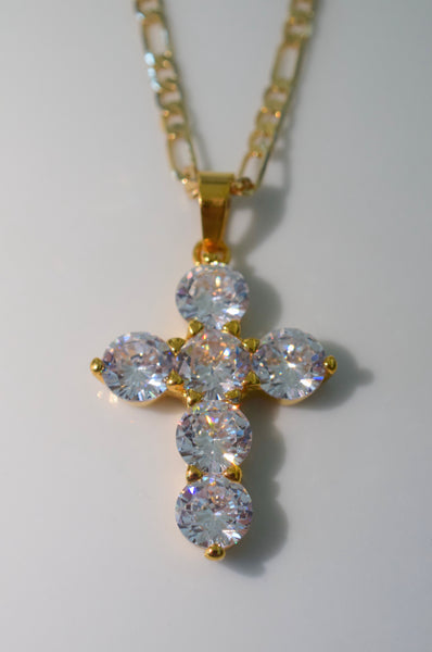 Bling Cross In Gold