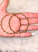 Twisted Hoops In 2 Sizes
