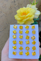 Canary Cushion Cut Studs