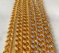 Reversible Gold Plated Cuban Link Bracelet