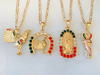 Gold Plated Mexican Flag Color Men's Jewelry Package Deal