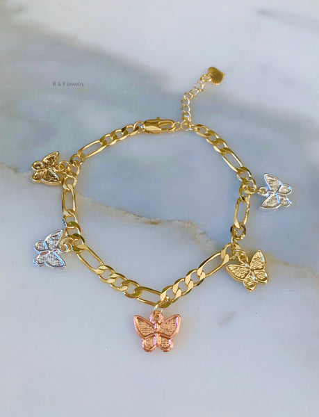 Butterfly Charm Bracelet Or Anklet