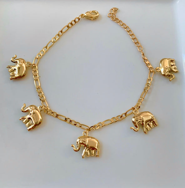 Elephant Bracelet And Anklet