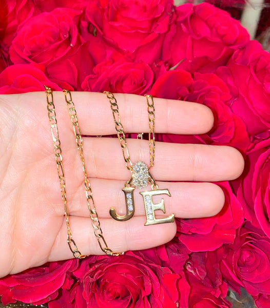 Gold Plated 2 To 6 Letter Initial Necklace