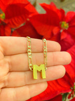 Slider Initial Necklace (Gold)