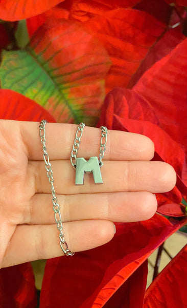 Slider Initial Necklace (Silver)