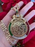 Gold Plated Centenario Coin 50 Peso Necklace