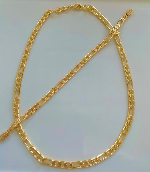 Textured Thick Figaro Chain Necklace Or Bracelet