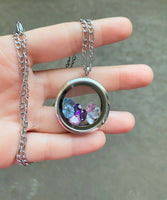 Floating Birthstone Necklace