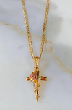 Rose Cross Mask Necklace