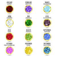 Bling Birthstone And Initial Kids