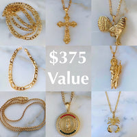 Men's Gold Plated Jewelry Package Deal