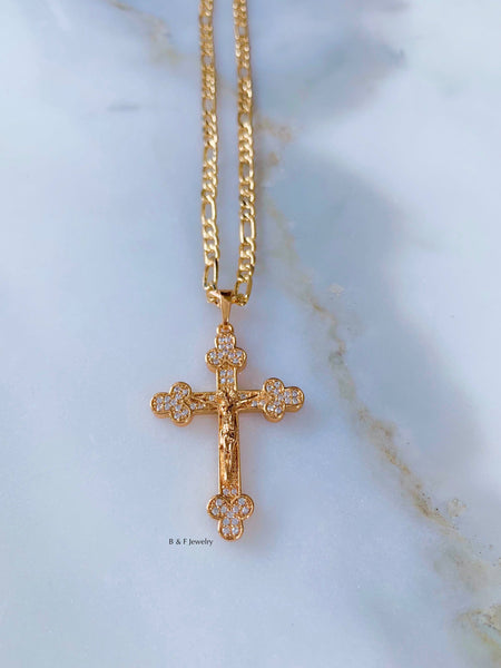 On Sale! Gold Plated Crucifix Necklace