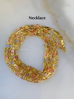 24 Inch TriColor Gold Dipped Chain With Optional Bracelets