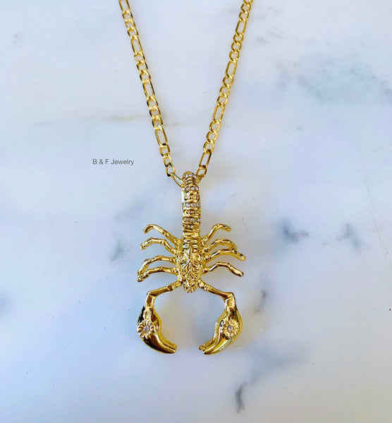 On Sale! Gold Dipped Large Scorpion Necklace
