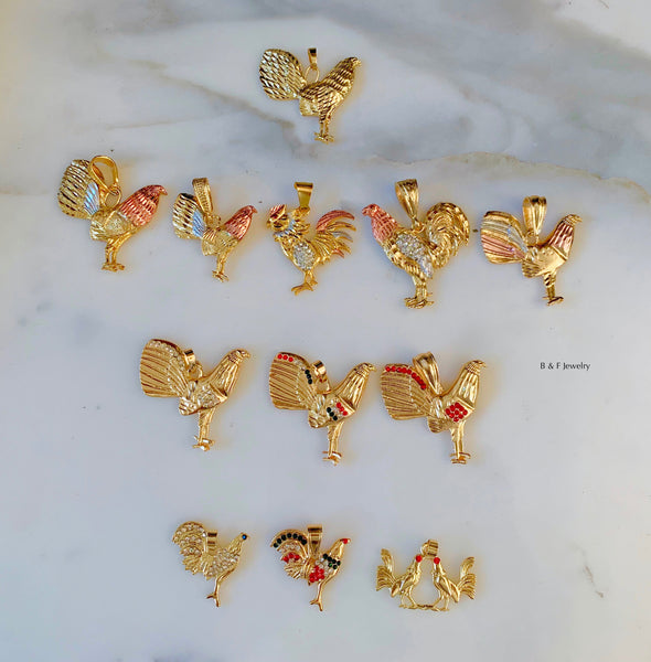On Sale! Gold Dipped Rooster Necklace In 15 Styles