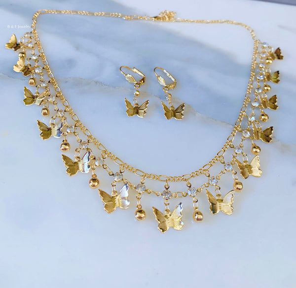 Breakable Gold Plated Butterfly Set