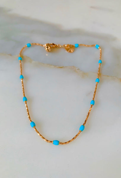 Something Blue Anklet- Has Matching Necklace