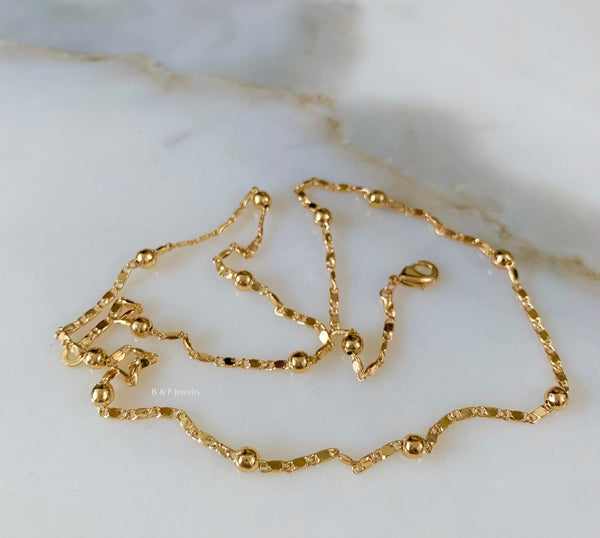 On Sale! Gold Dipped Ball Chain