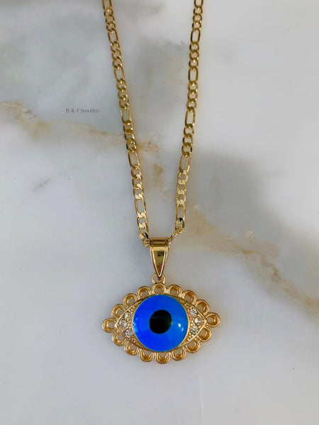 Gold Plated Eye Necklace