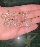 Gold Plated Bling Heart