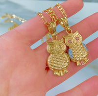 Gold Plated Owl Necklaces In 2 Styles