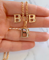 Gold Plated Initial Earrings- Has Optional Matching Necklace