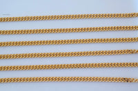 Thick 18 Inch Gold Plated Curb Chain