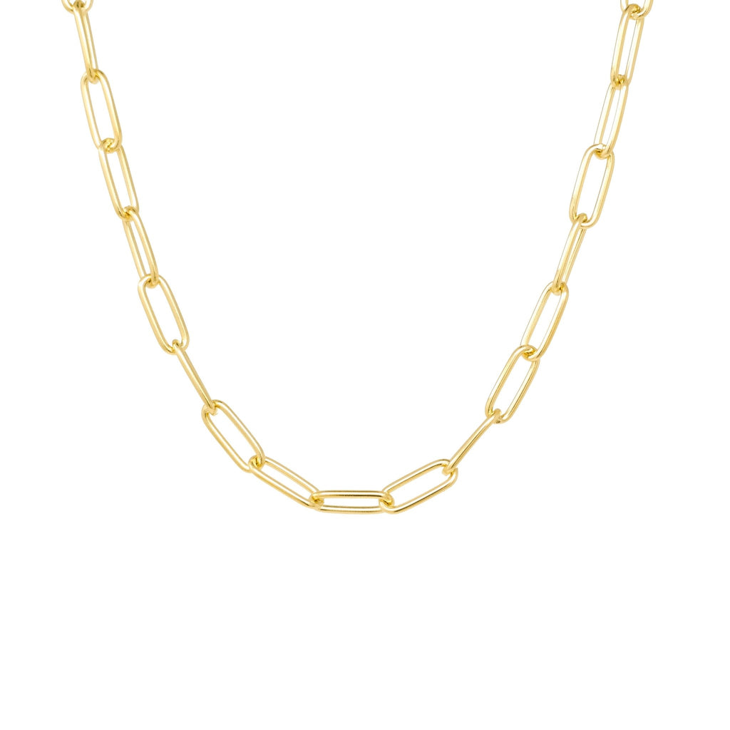 Classic Paperclip Necklace - Mayblu