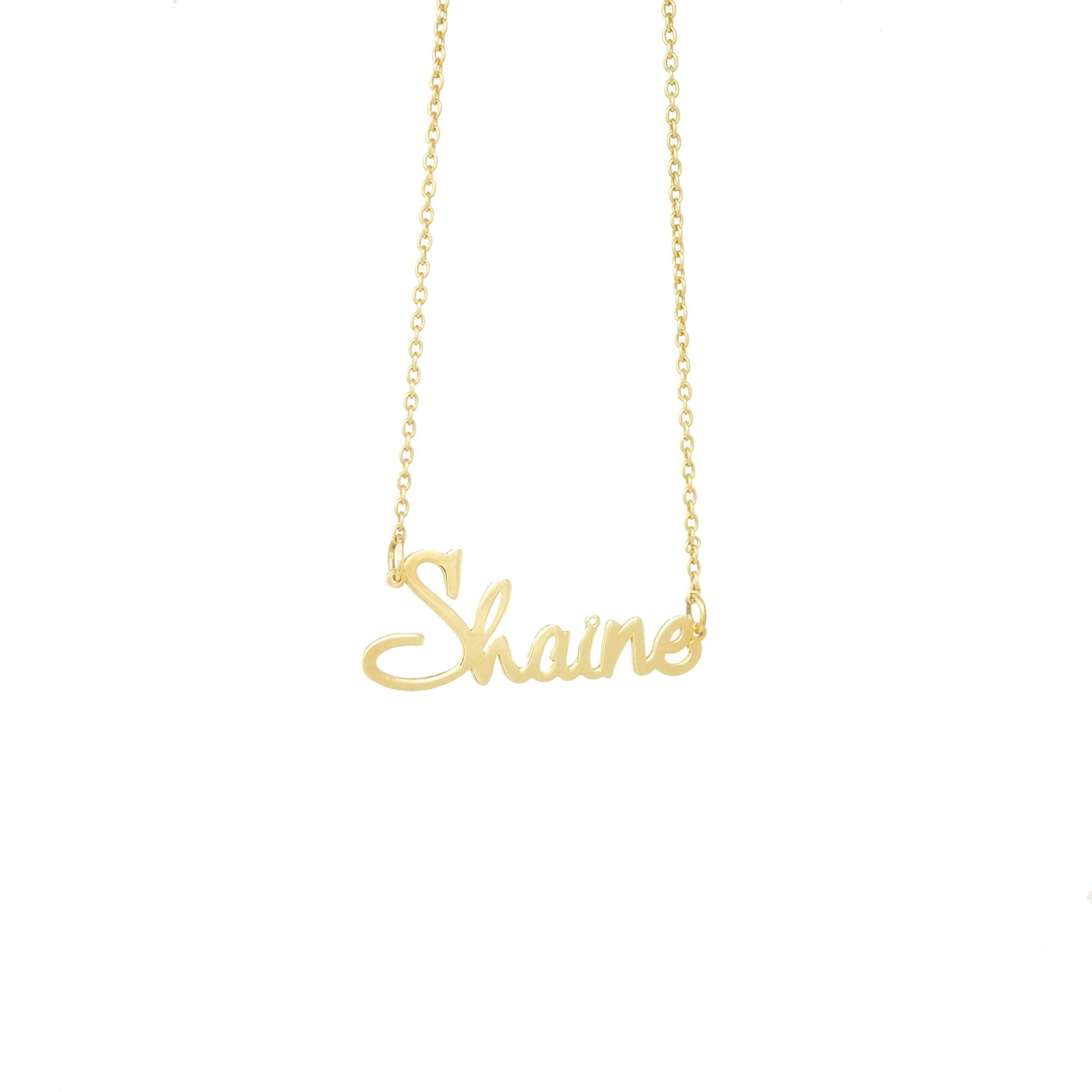 Cursive Name Necklace - Mayblu