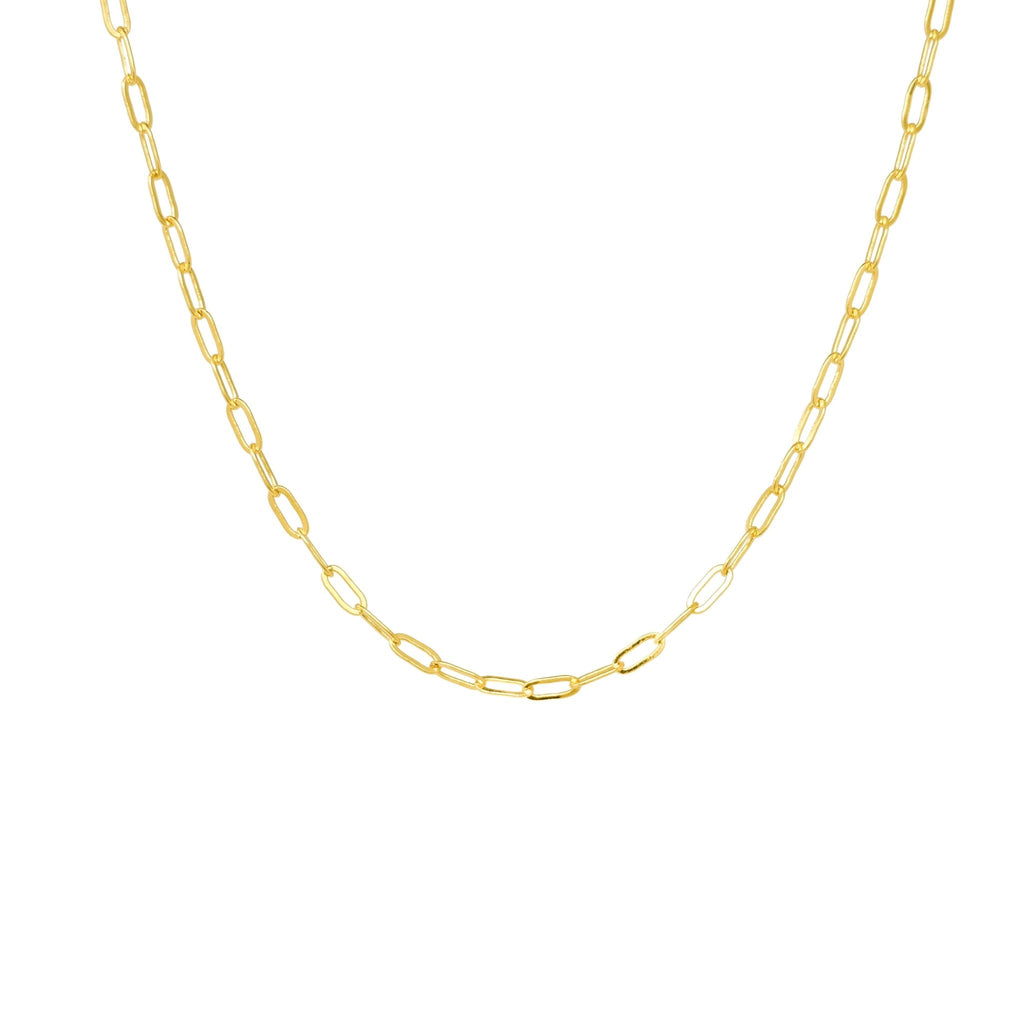 Dainty Paperclip Necklace - Mayblu