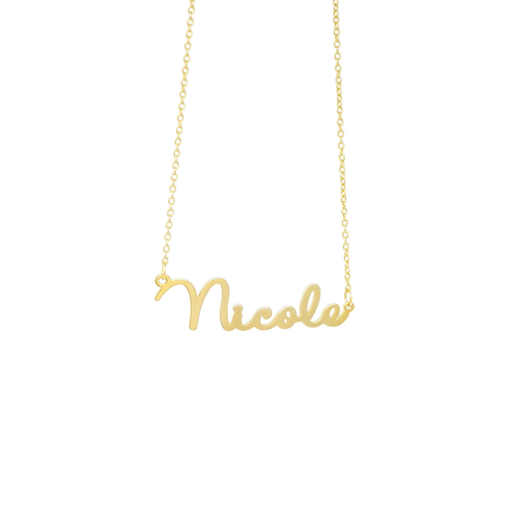 Dainty Script Name Necklace - Mayblu