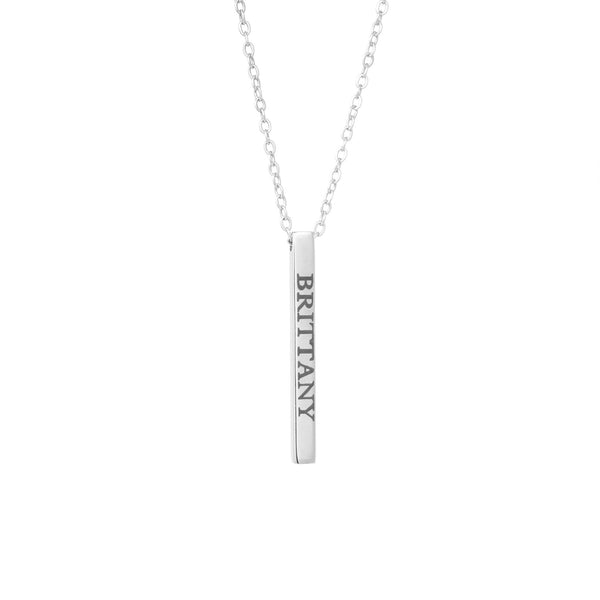 Engraved Bar Necklace - Mayblu
