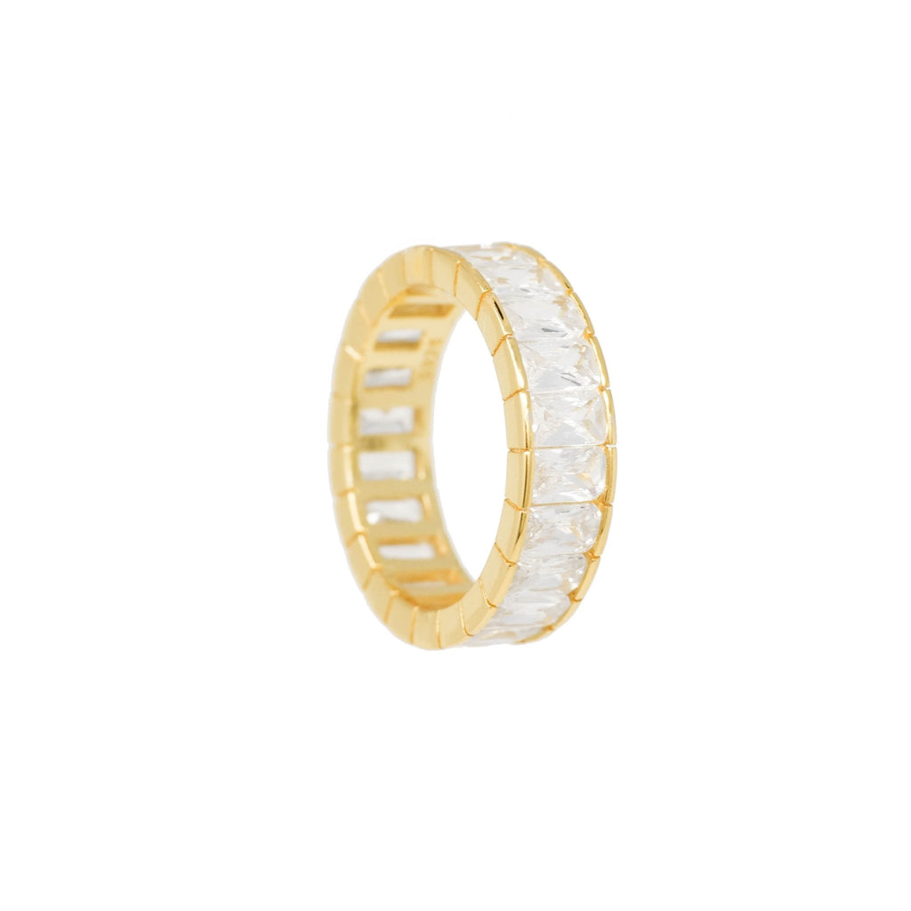 Frosted Baguette Eternity Band - Mayblu
