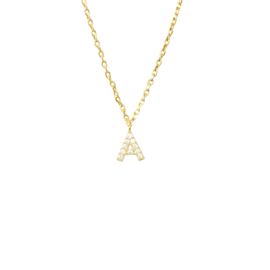 Frosted Dainty Initial Necklace - Mayblu