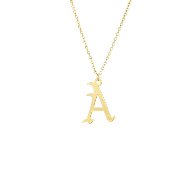 Gothic Letter Necklace - Mayblu