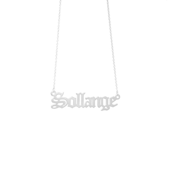 Gothic Name Necklace - Mayblu