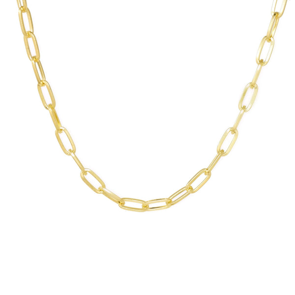 Modern Paperclip Necklace - Mayblu