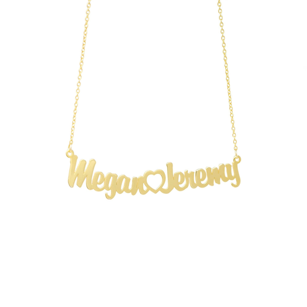 Script Couples Necklace - Mayblu
