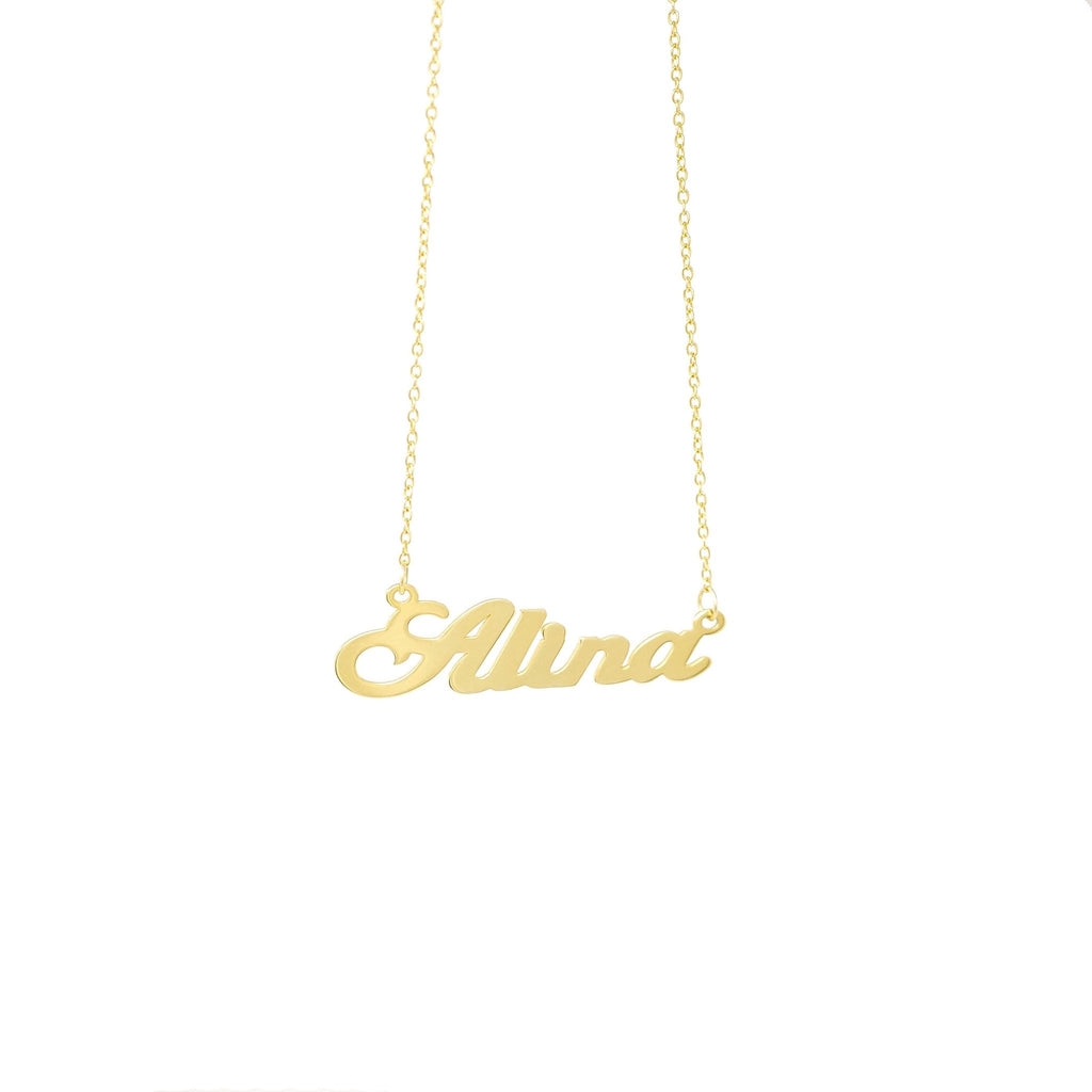 Script Name Necklace - Mayblu