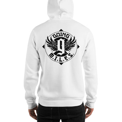 Going Miles White Hoodie