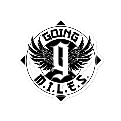 Going Miles Black stickers