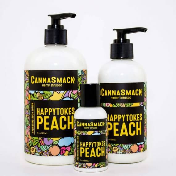 HappyTokes Peach Hydrating Hemp Body Lotion – Vegan Lotion CannaSmack