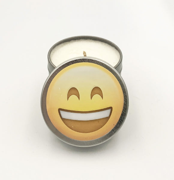 Emoji smile candle