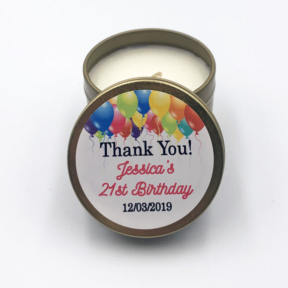 Label 21 birthday candle