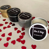 Personalised Party Favour Candle Engagement Wedding Lace
