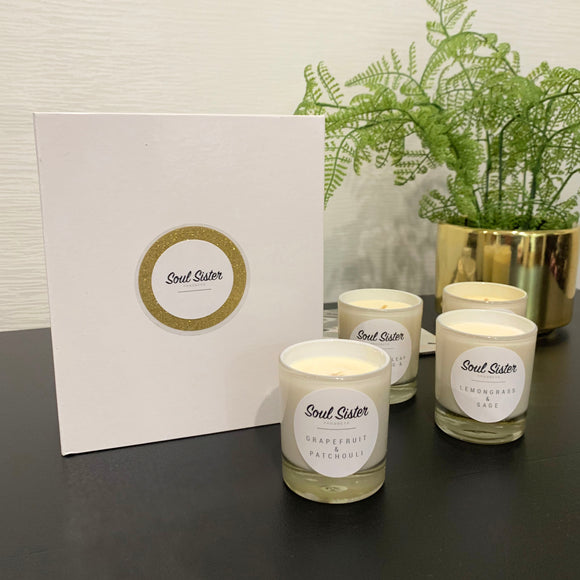 Citrus Collection Natural Soy Wax Candle Set Limited Edition
