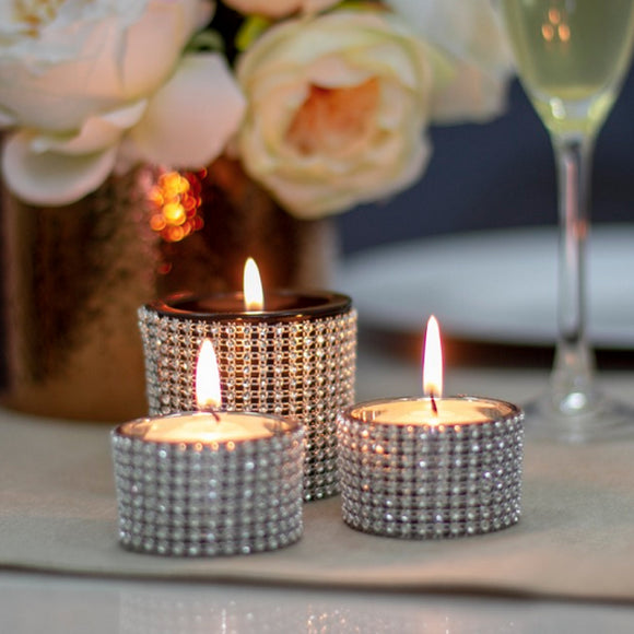 Diamante Tea Light Candle Holder
