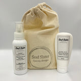 Hand Sanitiser Mist Spray and Hand Cream Bundle Pack - White Citrus & Lemon