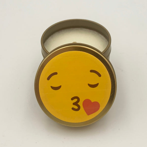 Emoji candle kissing sign soy candle mini gold candle